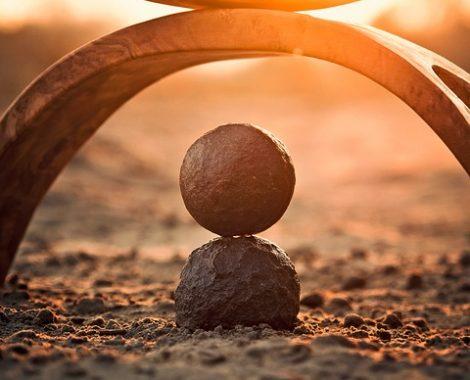 yoga balancing rocks